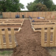 The finished garden construction