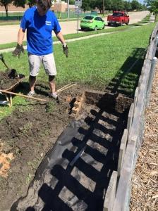 Richard creates a new garden bed.